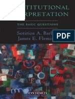 Sotirios a. Barber, James E. Fleming - Constitutional Interpretation_ the Basic Questions (2008, Oxford University Press)