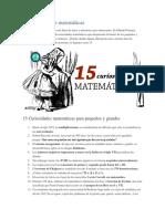 15 Curiosidades Matemáticas
