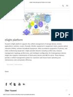 Huawei's ESight Platform