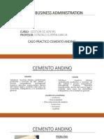 Analisis Cemento Andino ESAN