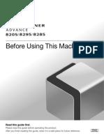 IRADV 8200 Srs 8205 8295 8285 Before Using This Machine