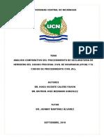 Declaratoria de Heredero UCN