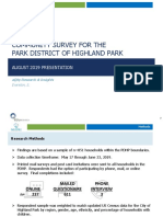 Park District of Highland Park 2019 Community Survey Report