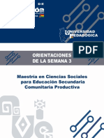 Orientaciones Semana 3 Maestria en Ciencias Sociales