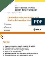 Gianine Tejada-Obstáculos en La Postulación a Los Fondos de Investigación Del Estado