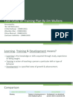 Case Study on Training Plan by Jim Mullens