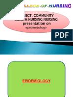 Epidemiology Ppt