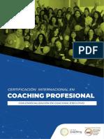 BROCHURE Certificación Internacional en Coaching Profesional - JUNIO Corregido