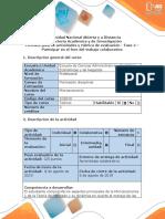 Guía de Actividades y Rúbrica de Evaluación - Fase 4 – Participar en El Foro Del Trabajo Colaborativo
