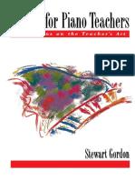 Stewart Gordon - Etudes for Piano Teachers_ Reflections on the Teacher's Art (1995, Oxford University Press, USA).pdf