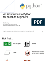 An introduction to Python for absolute beginners__