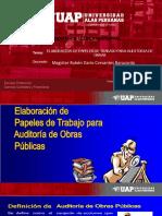 ELABORACION DE PAPELES DE TRABAJO PARA AUDITORIA DE OBRAS.ppt