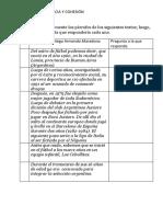 Ejercicios de coherencia y cohesión textual