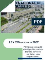 Codigo Nal Tto Ley 769 de 2002