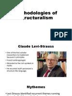 Methodologies of Structuralism