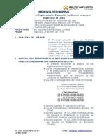Reglamento Excepcional de Habilitacion Urbana Con Subdivision de Lotes