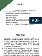 UNIT V Meeting.pptx