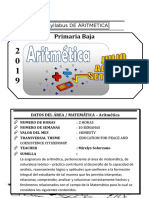 Syllabus de Aritmetica 2do