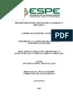 Tesis- Diseño y Simulacion Aerodinamica y Estructural de Un Vehiculo Aereo No Tripulado. Año 2015