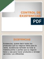 Control de Existencias s