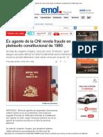 Ex Agente de La CNI Revela Fraude en Plebiscito Constitucional de 1980 _ Emol.com