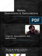 Modal Verbs Speculation and Deduction