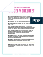 Budget Worksheets 3 Pgs