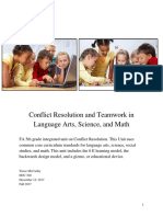 conflict resolution and teamwork  language arts science and math