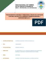 Procedimiento Contable y Tributario a Traves Del Software Contable Siscont