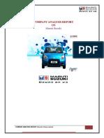 IADR Report on Maruti Suzuki