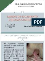 Lesion de Ligamento Cruzado Anterior Caso Clinico