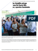 07-06-2019 Gobernador Héctor Astudillo entrega apoyos del programa Un Cuarto Más, Estufas ecológicas y aparatos funcionales en Acapulco.