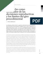 El Derecho Como Moderador de Las Decisiones Reproductivas