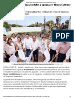 09-06-2019 Astudillo Entrega Obras Sociales y Apoyos en Tierra Caliente Por Casi 60 Mdp.