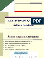Reatividade Química orgânica 1