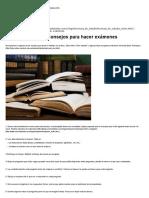 Técnicas de Estudio, Técnicas, Trucos y Consejos Para Hacer Exámenes