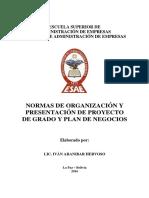 Normas de Organización Esae