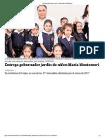 13-06-2019 Entrega gobernador jardín de niños María Montessori.