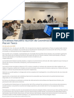 24-06-2019 Encabeza Astudillo reunión de Coordinación por la Paz en Taxco.