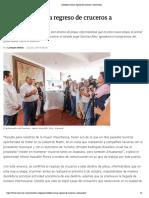 25-06-2019 Astudillo Anuncia Regreso de Cruceros a Zihuatanejo.