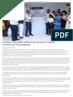 25-06-2019 Inaugura Astudillo Edificio de Primaria Vicente Guerrero en Zihuatanejo.