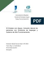 Inclusión laboral de personas con Síndrome de Asperger y Autismo de Alto Funcionamiento