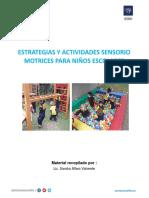 Estrategias y Actividades Sensoriomotrices (Táctil, Vestibular y Propioceptivo) Para Niños Escolares