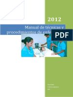manual de técnicas y procedimientos de enfermera