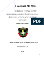 Documentación Policial II - Sílabo ELIAS 2019 ESPARTANOS