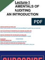Fundamentals of Financial Auditing 1