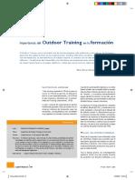 Outdoor Training en la formación