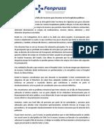 Declaración Fenpruss Falta de Recursos Para Insumos