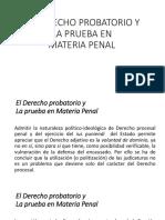 EL DERECHO PROBATORIO YLA PRUEBA ENMATERIA PENAL