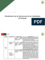 Rehabilitación de Las Alteraciones de Las Modalidades Del Lenguaje Matriz (2)